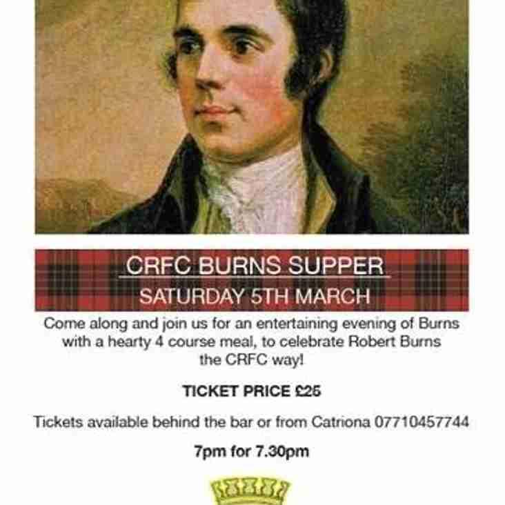 Cumnock RFC Annual Burns Supper