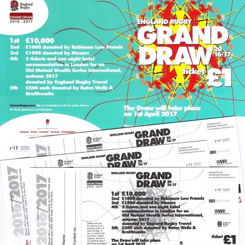 RFU Raffle - don't miss your chance to win £10,000!