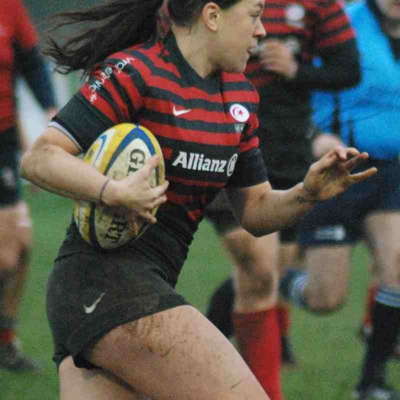 Aylesford Bulls ladies vs saracens I ladies