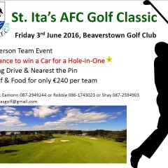 Golf Classic to raise funds for St Itas - 3rd June