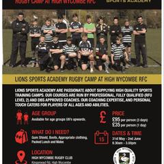 Half term rugby camp
