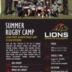 Lions Sports Academy Rugby Camp