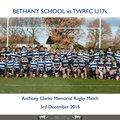 Anthony Clarke Memorial Match - 3rd December 2016 - U17s vs Bethany School