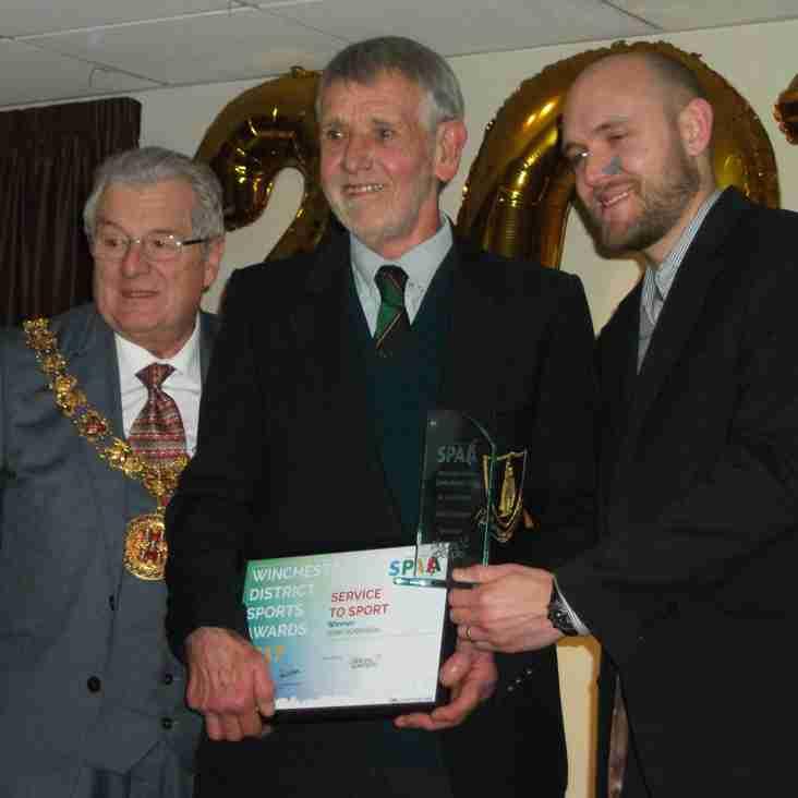 WRFC Groundsman Wins Top Winchester District Sports Award