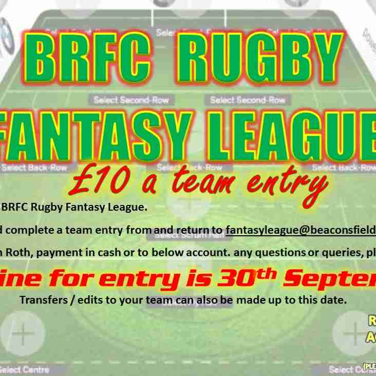 BRFC Fantasy Rugby 2017/2018.