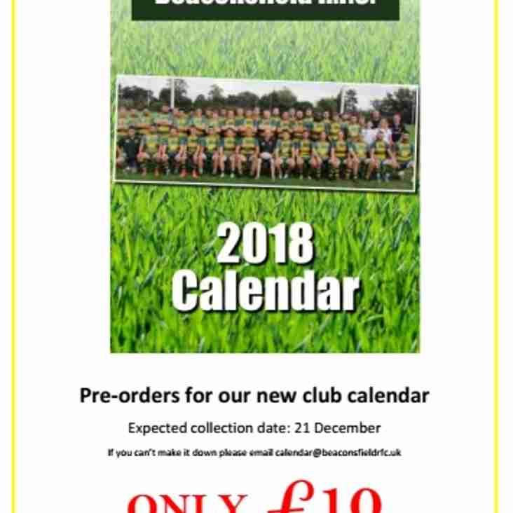 Pre Order your Club Calendar Now