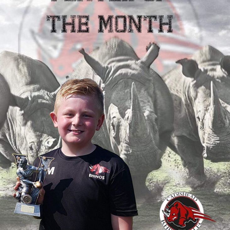 Cadishead Rhinos player of the month award - April<