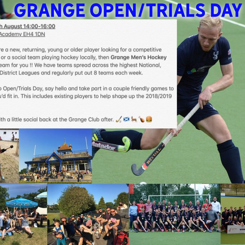 Grange Men's Hockey Open / Trials Day