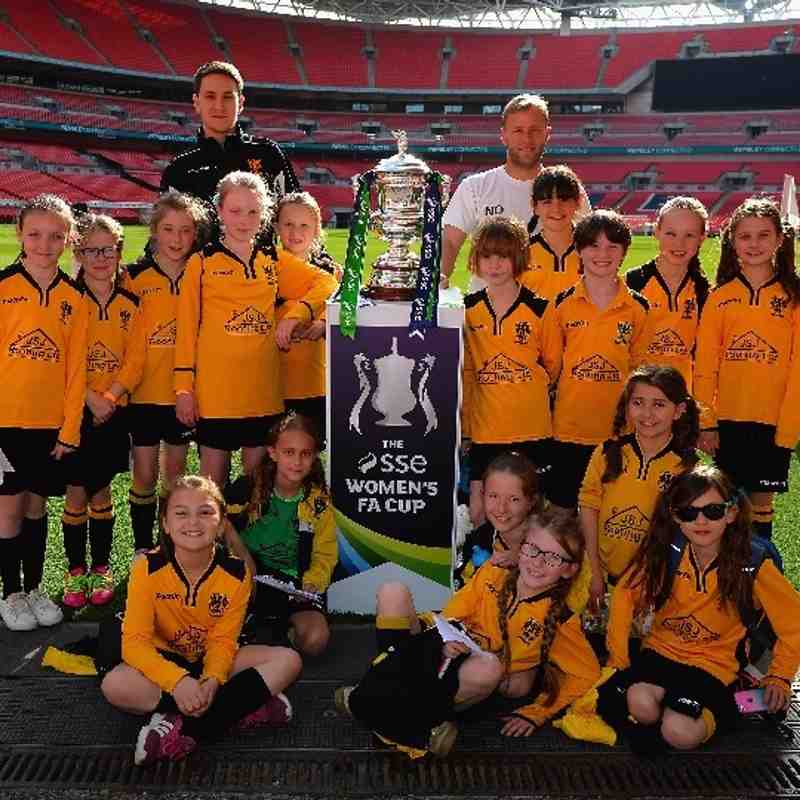 Under 10 Girls at Wembley