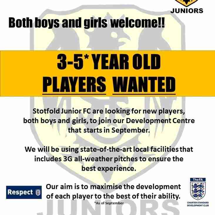 Young Players Wanted