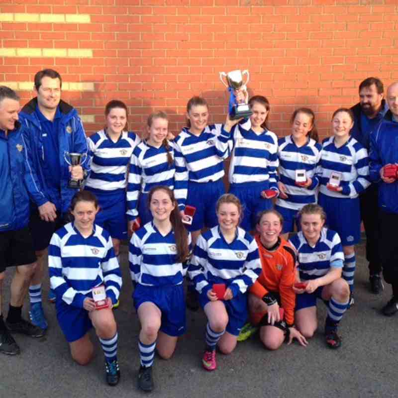 U16's Girls Win the 2015 Liverpool FA County Cup to 'do the Double'