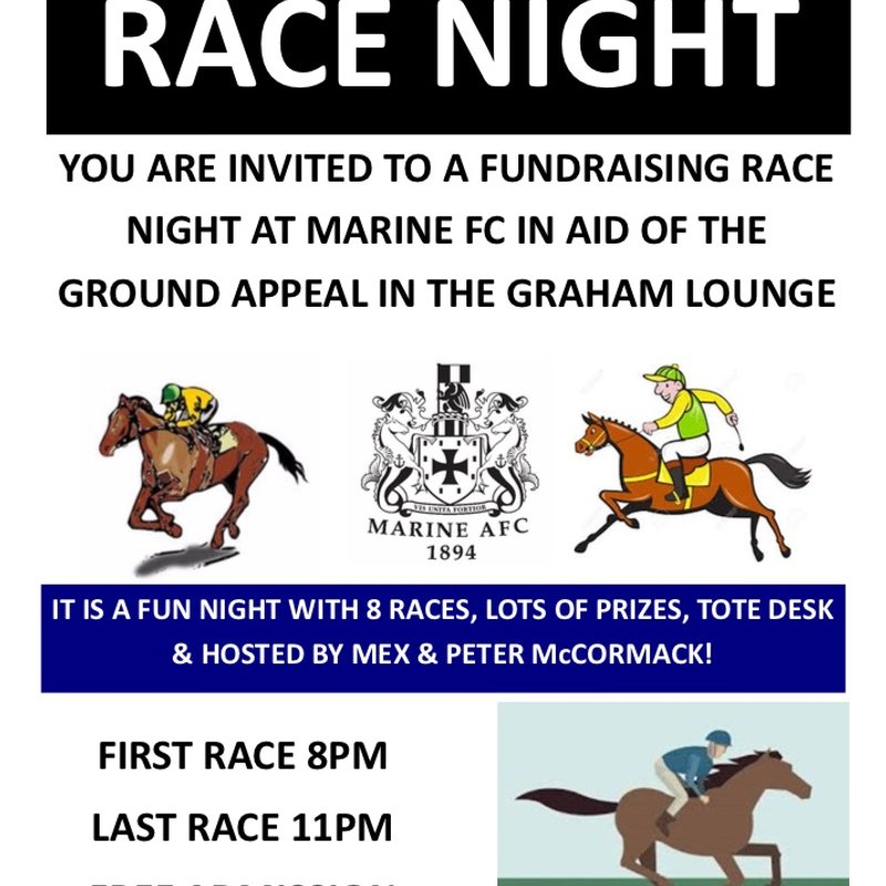 RACE NIGHT - FRIDAY 25TH JANUARY