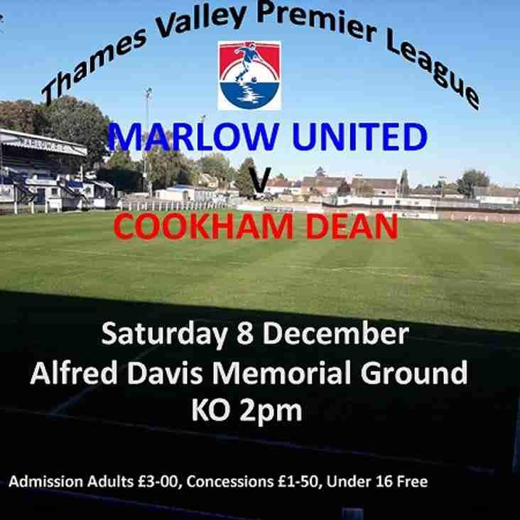 Thames Valley Premier League - Marlow United v Cookham Dean
