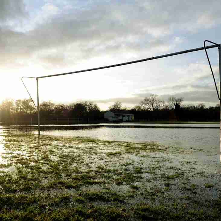 Weekend fixtures canceled again due to waterlogged pitches