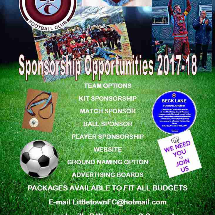 Player Sposorship Opportunities