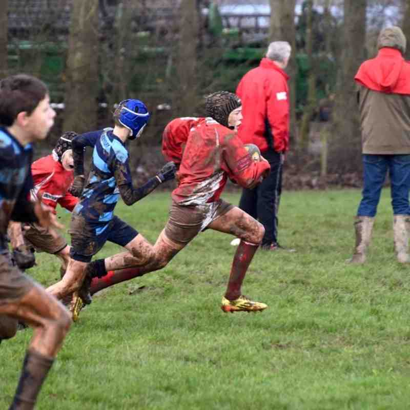 U12 vs Shrewsbury 7 Feb 2016 - Mud Bath