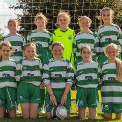 U13 Girls battle for the draw