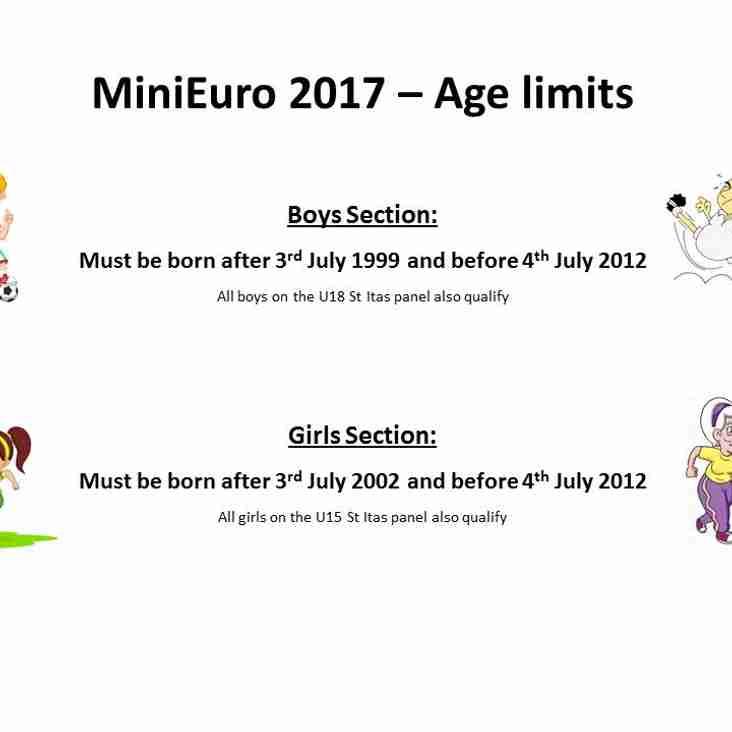 Mini Euro 2017 Age Limits