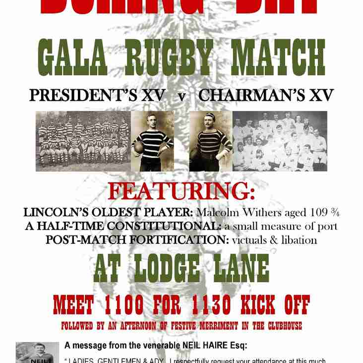 Boxing Day Game