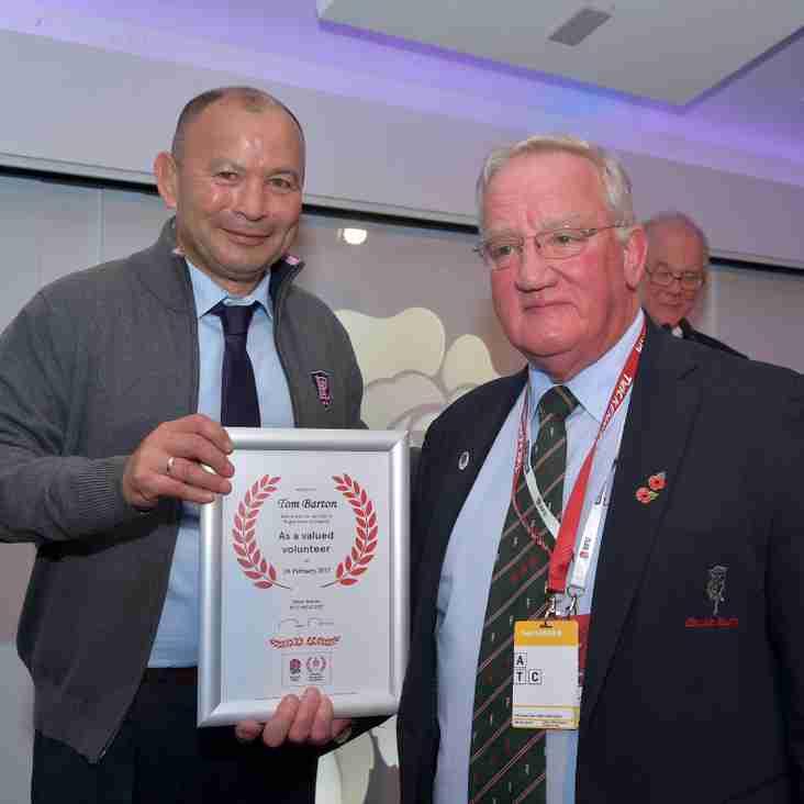 RFU President's Value the Volunteer Lifetime Achievement Award
