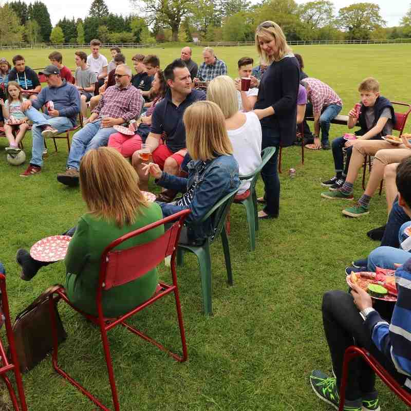 Haslemere Town Under 16 Presentation ceremony 4 May 2015