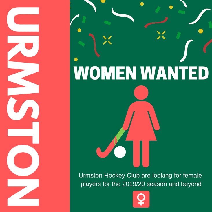 Female Hockey Players Wanted in Manchester