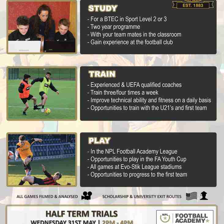 Nailers Academy May Trials