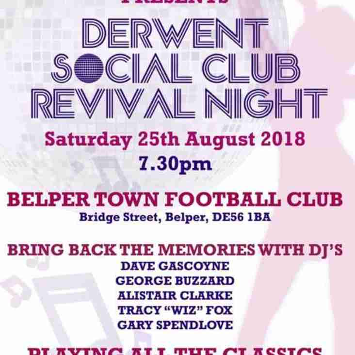 Derwent Social Club Revival Night