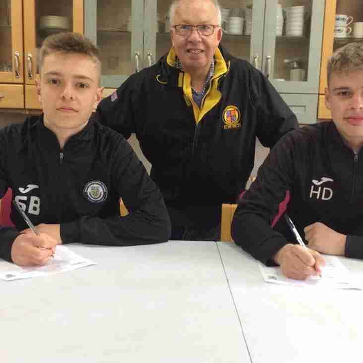 Academy students sign first team forms