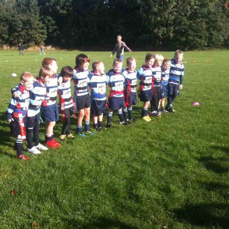 Dudley Kingswinford Under 7's season 2013/14 - First game v Old Sils 6/10/13