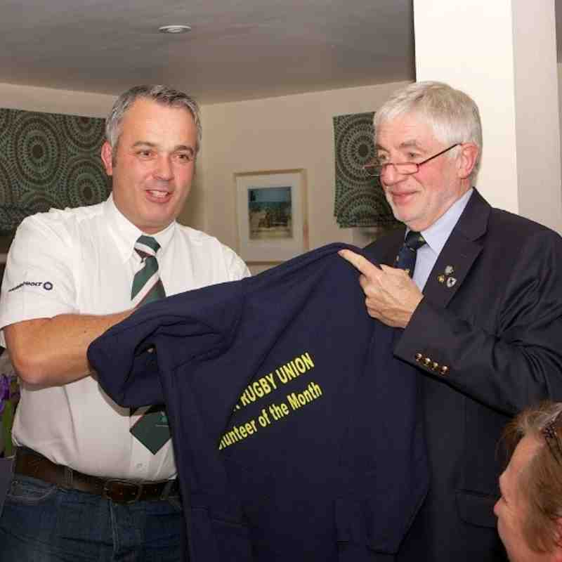 Suffolk RFU Volunteer of the month, September 2013