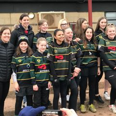 Frampton Girls with some of the England Rugby Girls team