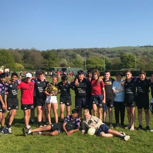 Last hurrah for u14's in the Mendip 7's at Winscombe RFC.