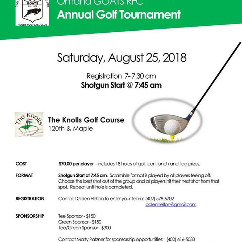 Omaha GOATS Golf Outing