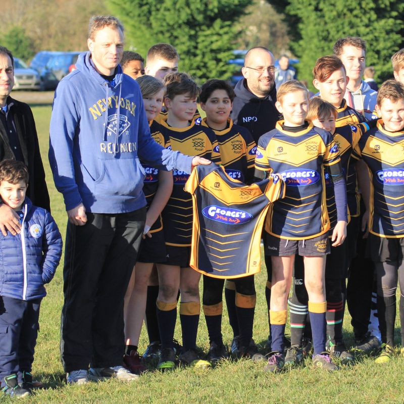 Georges Fish Bar are the new sponsor of Bourne RUFC Under 13's