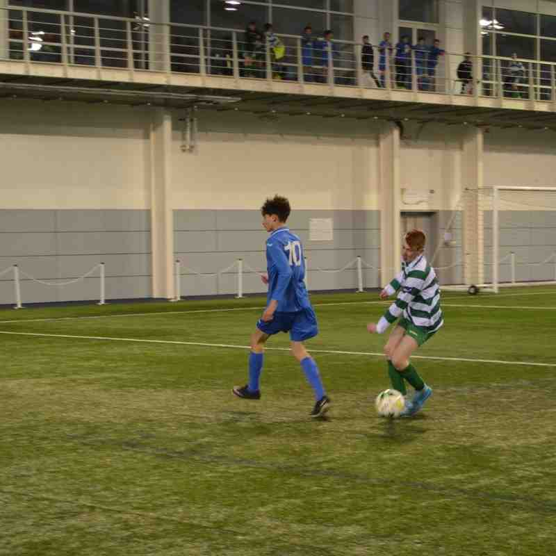 St Itas AFC away at Doveridge u15 St Georges park England