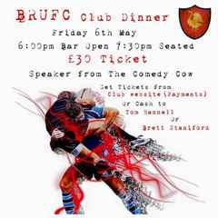 Club Dinner 6th Of May