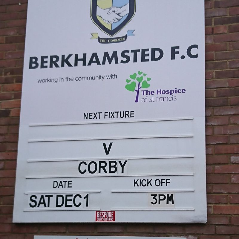 3rd Placed Corby Edge Past Berko