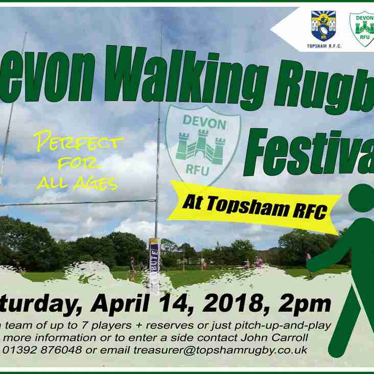 Devon Walking Rugby Festival - POSTPONED till August 12th