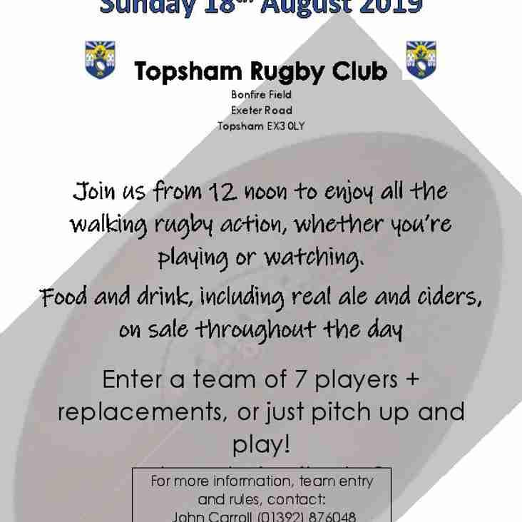 Topsham Walking Rugby Festival