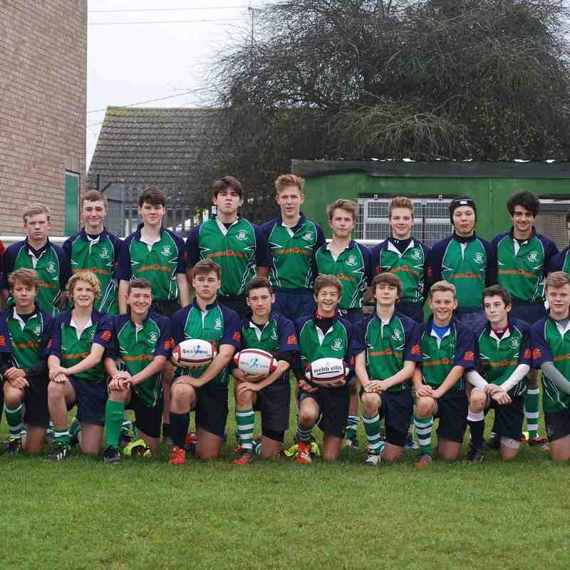 LBRFC U16s vs Men's Own (16.11.14 Win 47-7)