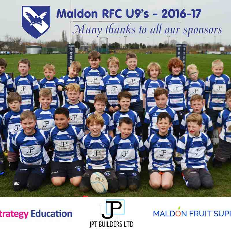 Under 9s New Match Top Sponsors