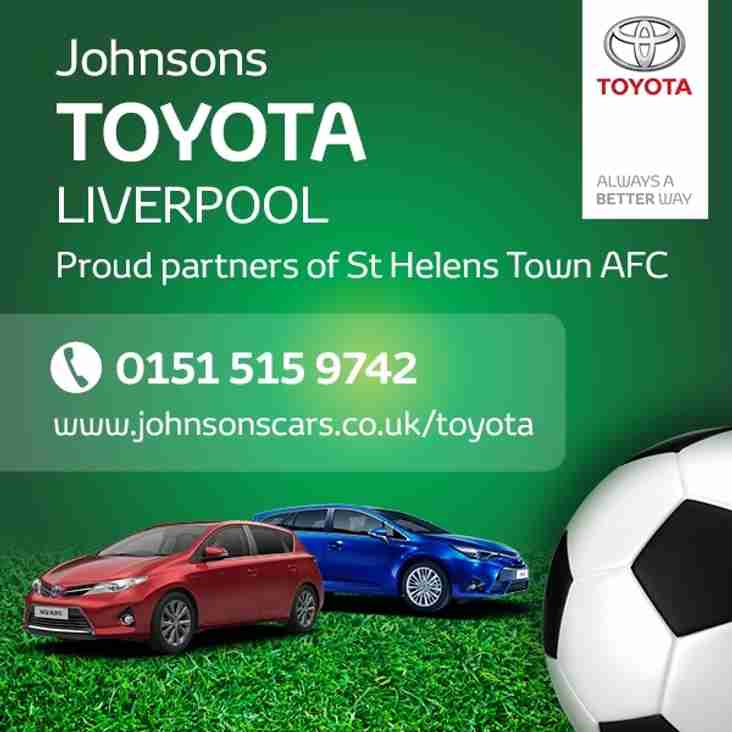 Johnsons Toyota Liverpool team up with Town
