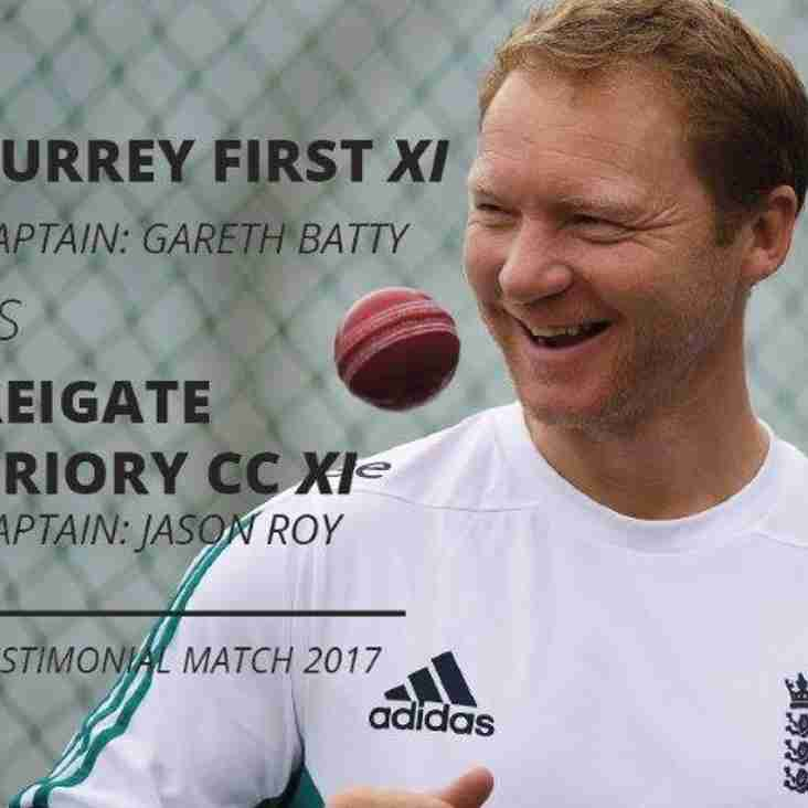 Gareth Batty Testimonial Match - Wednesday 26th July