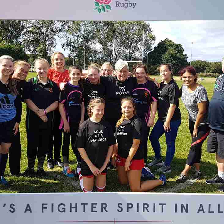 Nuneaton Old Ed Girls and Ladies Release their Inner Warriors