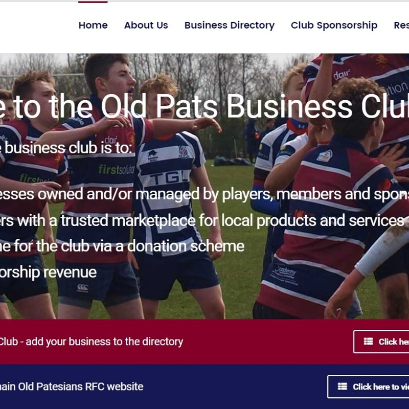 Old Pats Business Club is Launched