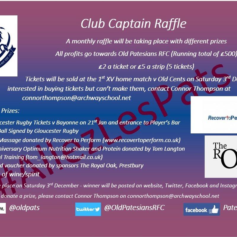 December Club Captain Raffle - £350 Raised!