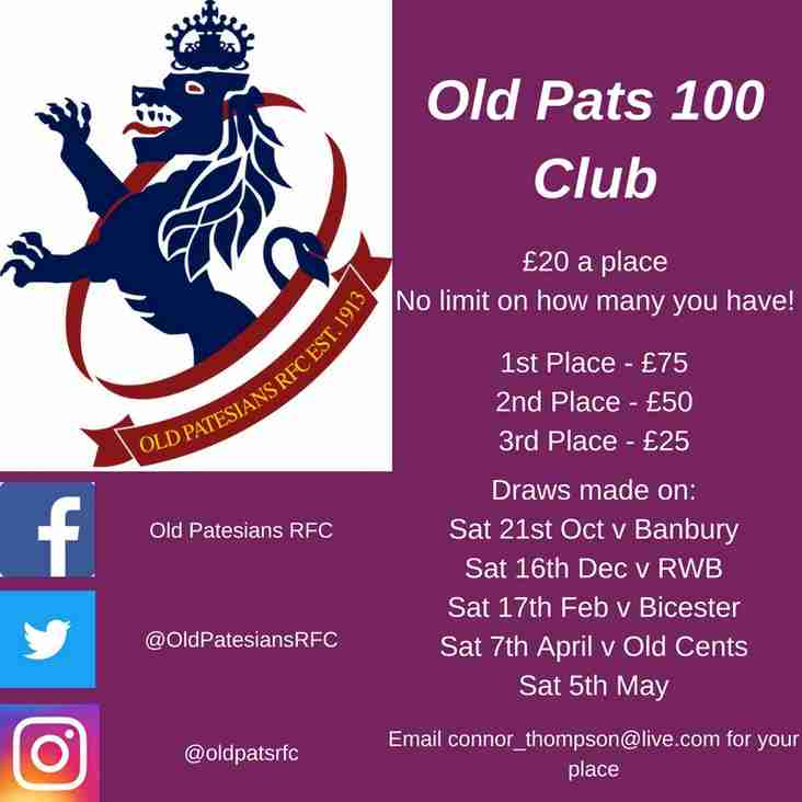 2017/18 100 Club - £20 a place!