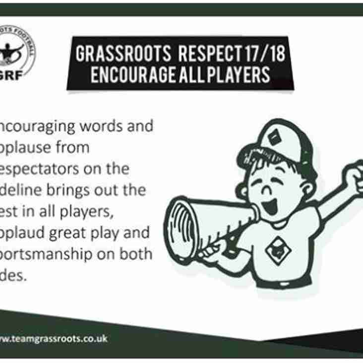 Respect [Encourage Players]