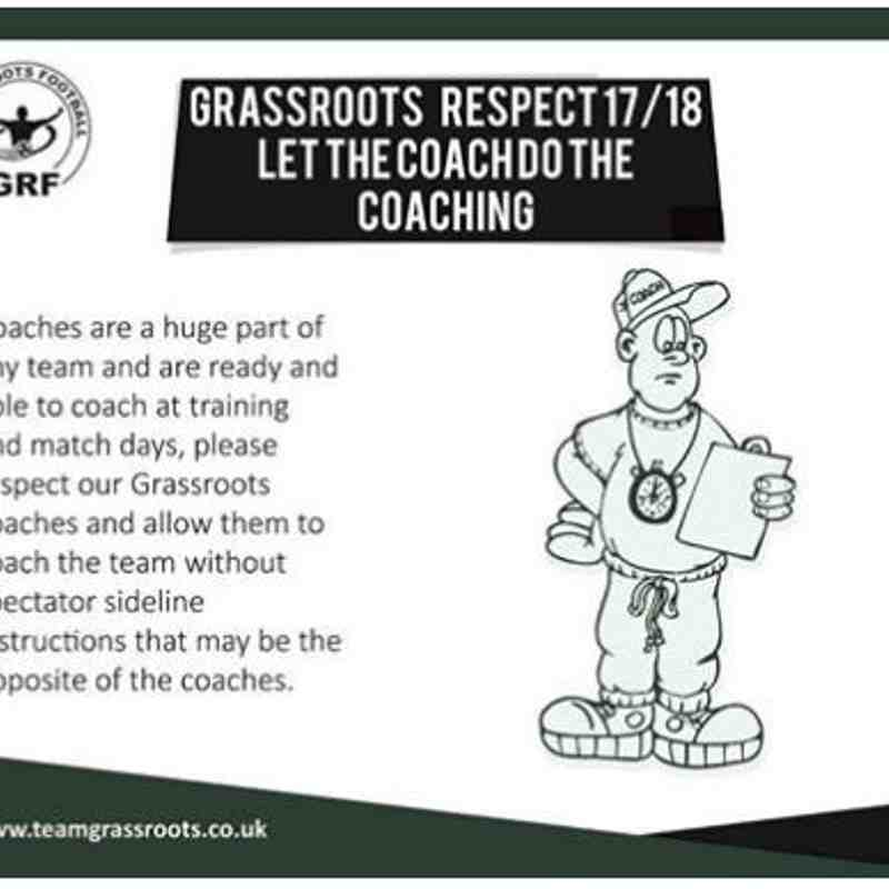 Respect - Coaches do the Coaching
